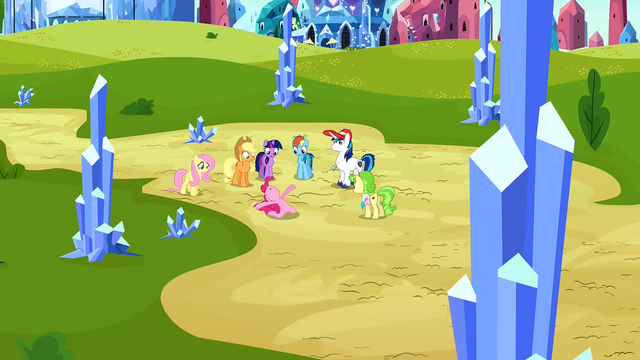 File:Main ponies and Peachbottom zoom out S3E12.png
