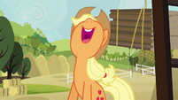 Applejack singing her heart out S3E8