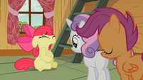 Cutie Mark Crusaders Apple Bloom is sick S2E12