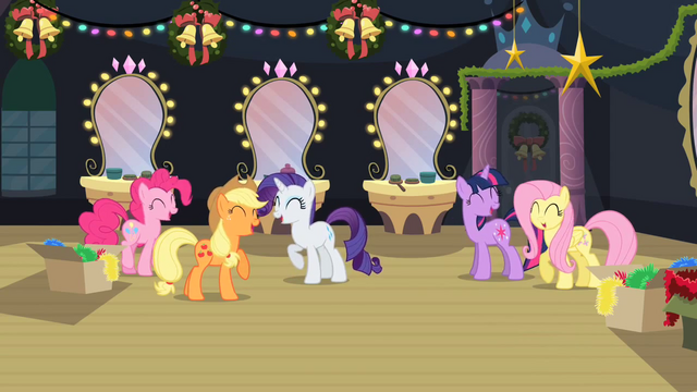 File:Five friends laugh as Rainbow Dash agrees to close window S2E11.png