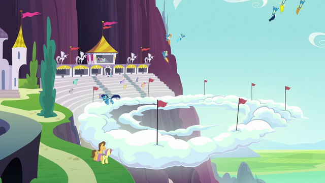 File:Ponies watching the aerial display S5E15.png