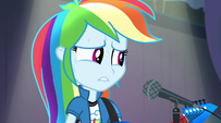Rainbow Dash starting to sweat EG2
