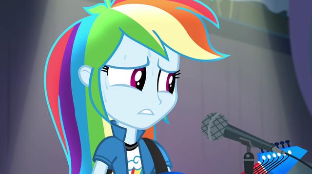 File:Rainbow Dash starting to sweat EG2.png