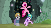 Pinkie Pie jumping for joy S7E4