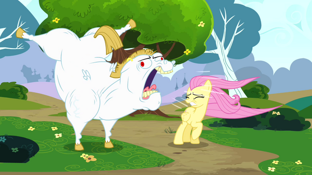 File:Bulk shouting at Fluttershy S4E10.png