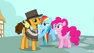 Rainbow Dash with Pinkie and Cheese Sandwich S4E12