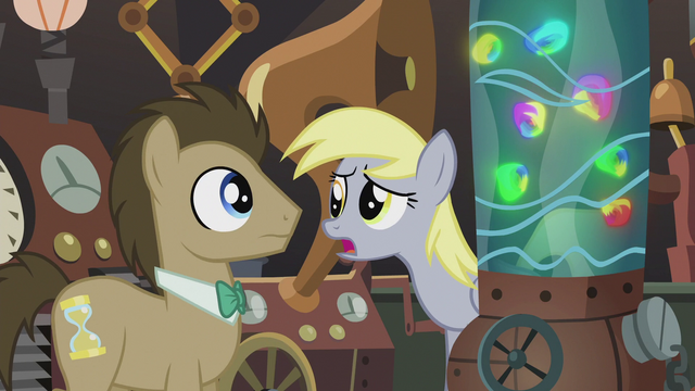 "File:Derpy ""How did you learn to make all this stuff anyway?"" S5E9.png"