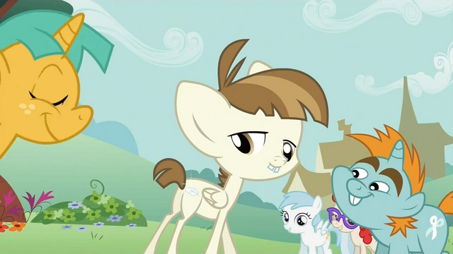 File:Featherweight shows off his cutie mark S2E23.png