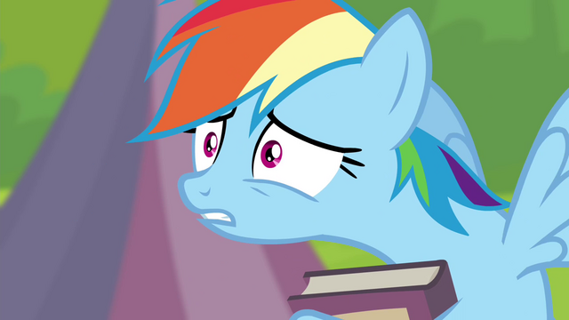"File:Rainbow Dash ""what did I do?"" S4E22.png"