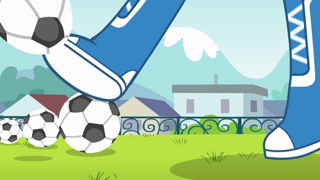 File:Rainbow Dash kicking a soccer ball EG.png