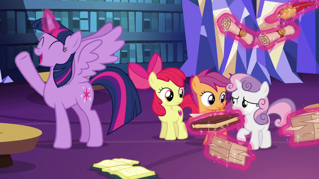 "File:Twilight Sparkle ""a full-scale research project!"" S6E19.png"