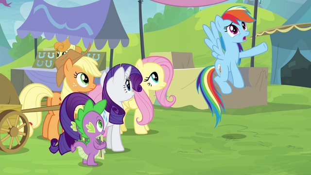 "File:Rainbow ""the only one in all of Equestria!"" S4E22.png"