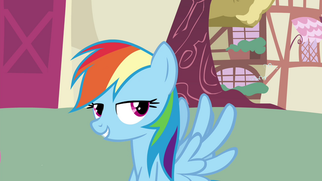 File:Rainbow Dash grinning S4E21.png