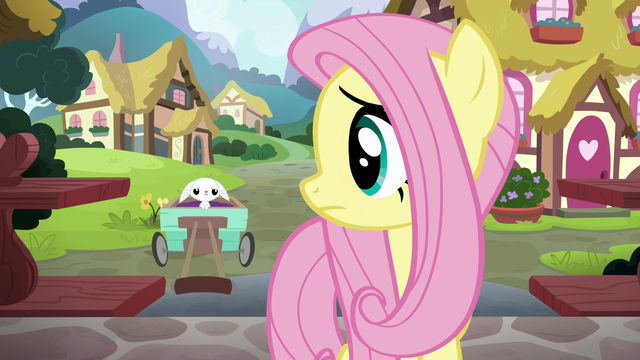 File:Fluttershy looking back at sad Angel S7E5.png