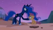 Princess Luna giving advice to Scootaloo