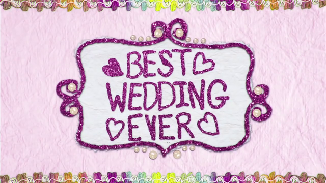 "File:""Best Wedding Ever"" text in felt BFHHS1.png"