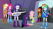 """Fluttershy """"we're the ones that made it to the finals?"""" EG2"""