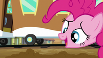 "Pinkie ""this is magical sand-colored snow"" S5E11"