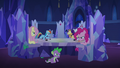 Pinkie Changeling sticks her tongue out at Spike S6E25.png