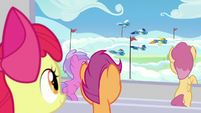 The Wonderbolts begin their performance S7E7