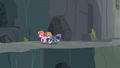 Maud and Pinkie escaping Ghastly Gorge S7E4.png
