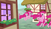 Pinkie Pie clones hopping on the streets S3E03