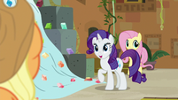 "Rarity asking ""plum or boysenberry?"" S7E2"