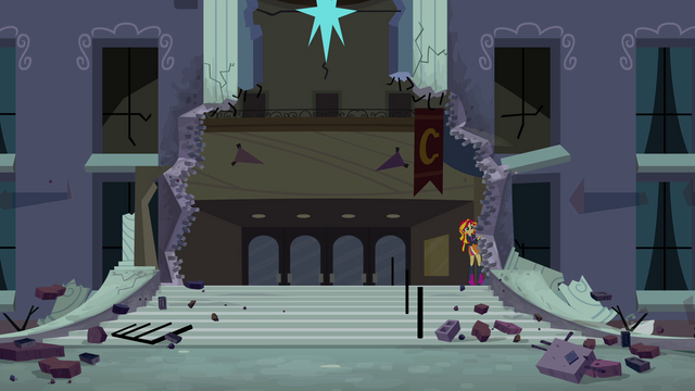File:Sunset Shimmer hiding from main six EG.png