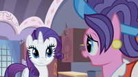 Rarity's mother talking to Rarity S2E05