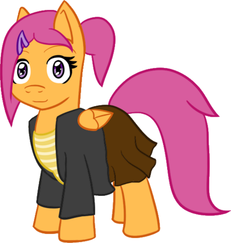 File:FANMADE Jake Heritagu Pregnant Scootaloo Nightmare Night Costume.png
