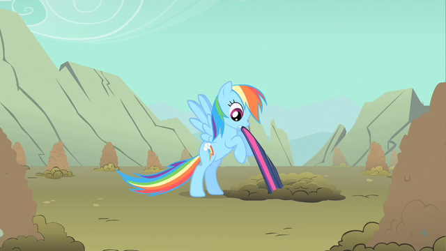 File:Rainbow Dash biting hold S1E19.png