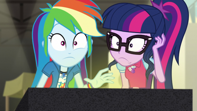 File:Twilight and Rainbow hear Juniper Montage's voice EGS2.png