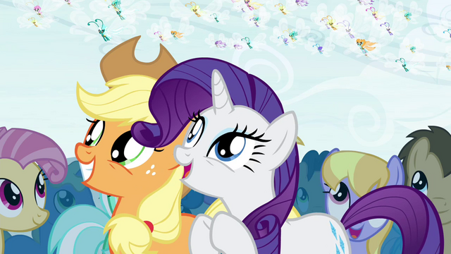 File:Applejack and Rarity in awe of the Breezies S4E16.png