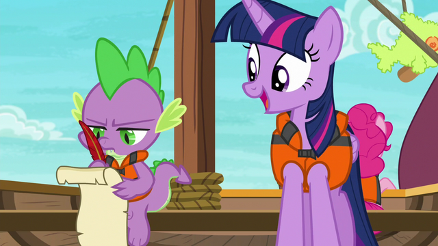 File:Spike dourly taking notes for Twilight S6E22.png