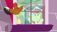 Apple Bloom presses her face against window S5E4