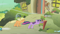Applejack biting Twilight's tail S01E10.png