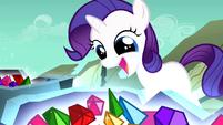 Filly Rarity overjoyed over the gems S1E23