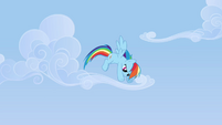 Rainbow beginning to fly downwards S3E7