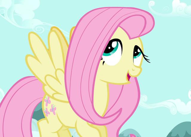 ملف:Fluttershy rolling her eyes S2E07.png