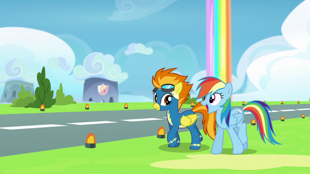 File:Rainbow Dash interrupting Spitfire S6E7.png
