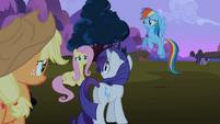 Rarity, Rainbow Dash, Applejack and Fluttershy worried S2E3