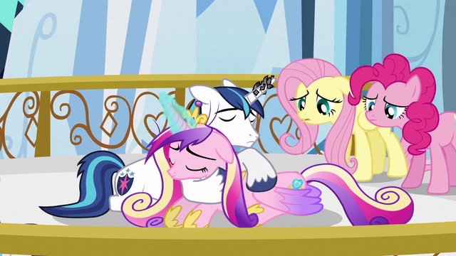 File:Shining Armor trying to soothe Cadance S3E2.png