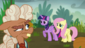 Ma Hooffield looks behind at Twilight and Fluttershy S5E23.png