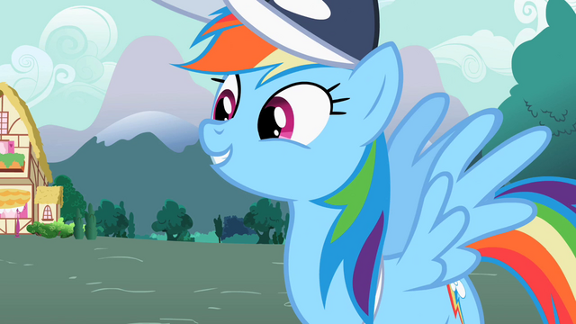 """File:Rainbow Dash """"Truly awesome"""" S2E07.png"""
