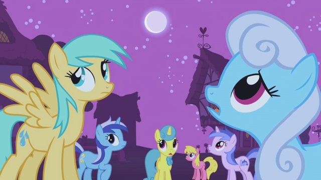 File:The ponies wonder what's going on S1E06.png