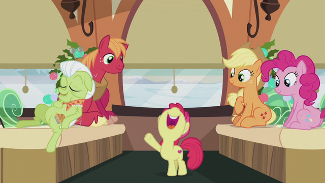 """File:Apple Bloom """"the Apples and the Pies do everything the same way!"""" S5E20.png"""