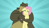 Fluttershy getting a warm bear hug S7E2
