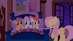 Fluttershy puts the CMC to bed for the first time S01E17