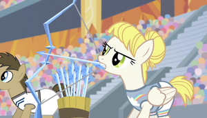 Pizzelle firing ice arrows S4E24