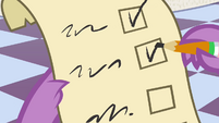 Spike checking off the second box S4E01